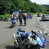 Sat route - coffee stop across from Ladybower Reservoir just before Snake Road (Snake Pass!)