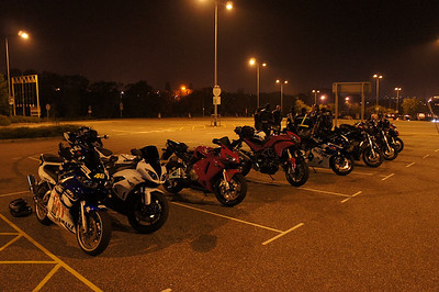 The initial meeting point at Exeter motorway services for an 04:00am start! (I was up at 02:00 to meet up with 'Smiler' at Burnham-on-Sea and be there before 4am!!)