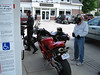 We ran into some cool bikes at a gas stop. This guy has a Ducati 1098. Apparently he didn't have any money left for gear.