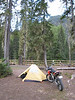 My sleeping accommodations for the evening. Slept well with the sounds of the nearby river. We had great weather too.