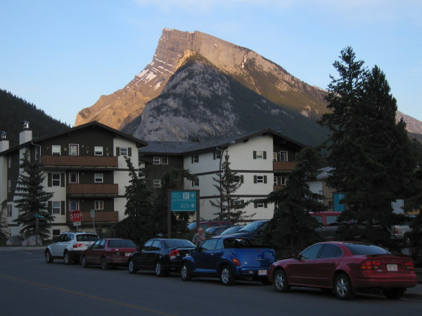 Banff backdrop.