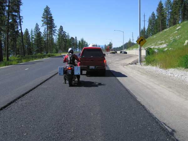 Road works on I-90.