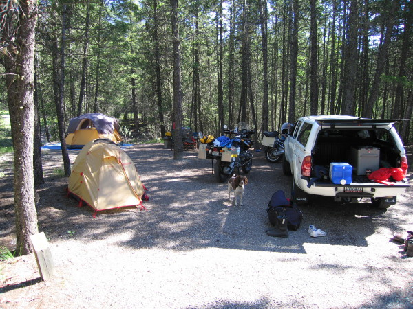 Radium Hotsprings campsite.