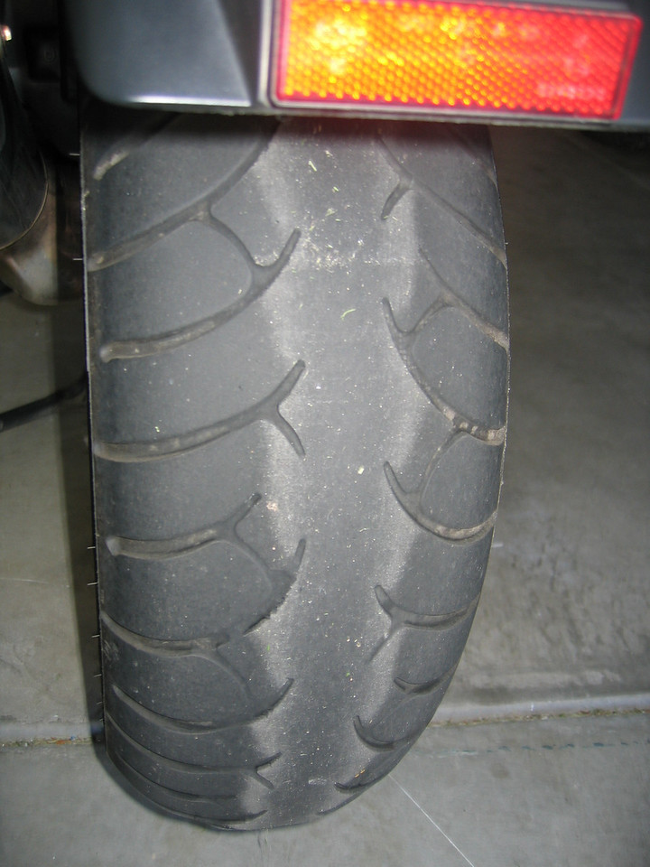 "The Metzler Z6 is a sport-touring tire, and has a dual compound (Note:  I had some literature indicating Z-6's were a dual-compound tire, however Metzeler's site has changed and doesn't indicate that its dual compound any longer).  The center is harder and has no sipes (treads) for improved mileage.  The sides are softer and have sipes for improved cornering and wet traction.<br /> <br /> Many people complain that they cannot tell when their rear Metzler Z6 tire is worn out due to the lack of tread sipes in the center of the tire.<br /> <br /> If you are new to motorcycling:  New tires are very slick until they are scrubbed-in.  Ride cautiously for the first 100-200 miles (or use a wire brush to manually scrub the tires).  I like to go for a ""scrub-in"" ride after getting new tires by taking the bike into the twisties.  Be cautious, and slowly increase lean angles over the course of a 100-mile ride on your favorite twisty road."
