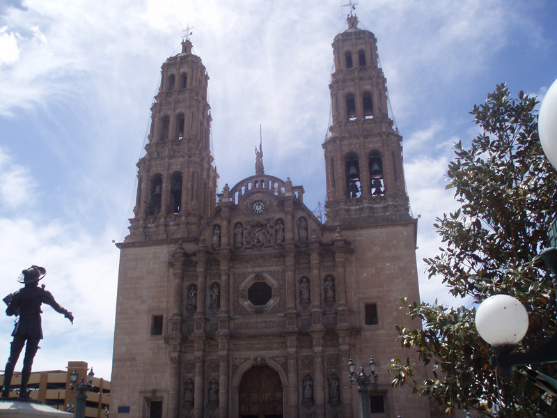 chihuahua  city church-is that the killer cortez?<br /> I guess this church took more than 200 years to build because of frequent indian attacks.