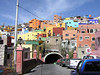 Entering one of the 19 tunnels in this fantastic city, Guanajuato.
