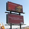 Strange billboard pairing in Indiana.  or is it just good advertising??