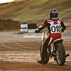 Sammy Oskin rides off into the sunset after another race. ; MidAmSpdwy-0644