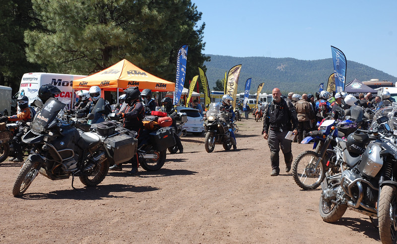 Moto Village lane is lined with vendors displaying the latest in innovation.