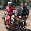 Paul Gullien, general manager of Touratech North America, lets Austin Vince of film Mondo Enduro take his BMW F800 for a spin.
