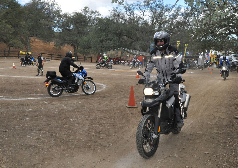 Dirt 101 class keeps the riders moving through turning and braking stations.