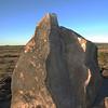 Petroglyph rock at Painted Rock in southern Arizona.