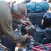"Ara Gureghian of  <a href=""http://www.oasisofmysoul.com"">http://www.oasisofmysoul.com</a> prepares his riding partner Spirit for their next adventure."