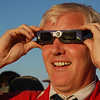 Austin Vince is wowed by the spectacle of  the solar eclipse.