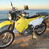Nicole's DRZ with the Rugged Rider Combo Rack.