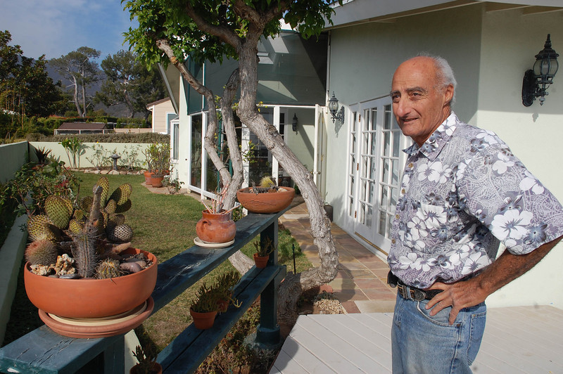 Dad with his cacti.