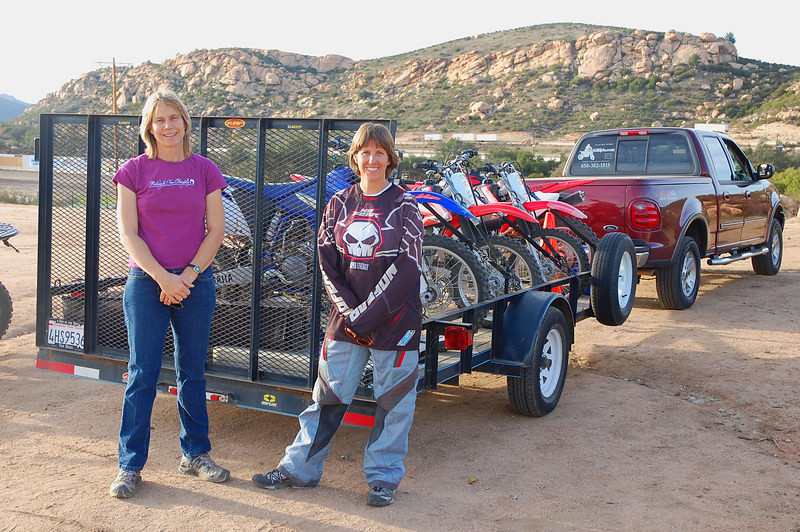 Bonnie Warch and Andrea Beach of Coach2Ride off-road riding school keep the instruction challenging for all levels of riding abilities.
