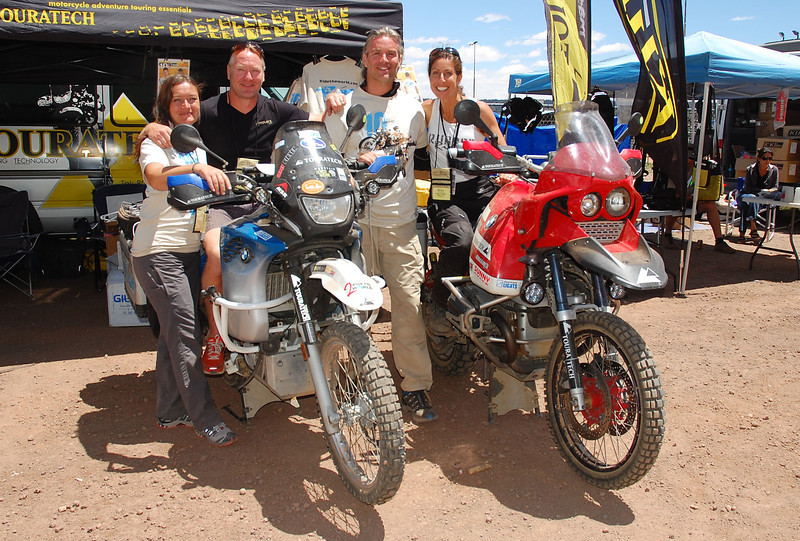 Kevin Muggleton, of Redverz Gear, and I with Simon and Lisa Thomas.