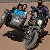 With Shawn Thomas of RawHyde at the helm of this Ural, my daughter Alana and I got a thrill of a lifetime.