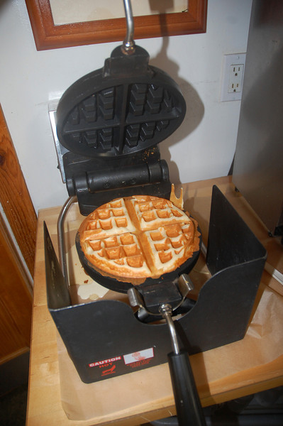 What fun to make your own fluffy Belgiun waffles for breakfast.