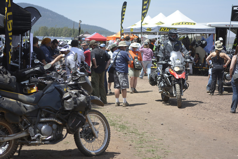 Moto Village getting busy with Saturday particpants ready for adventure.