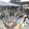 "After the event, many of the vendors huddle by the fire and talk about the ""smashing success"" of the weekend."