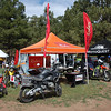 Our Rugged Rider and Adventure Motorcycle magazine booth in Moto Village.