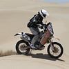 Kevin flies through the dunes on his Honda CRF450X.