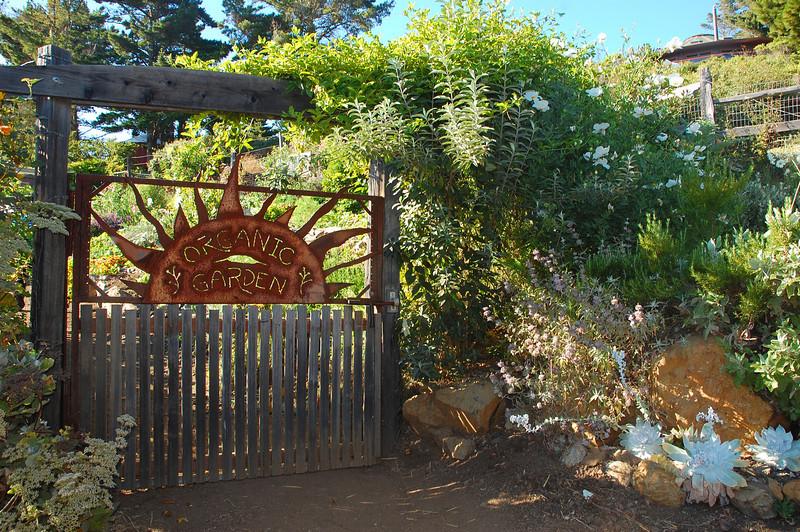A tour of the organic garden will delight the senses.