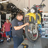 On Any Moto in Tucson, AZ gives Jack some new shoes...Dunlop D606s.