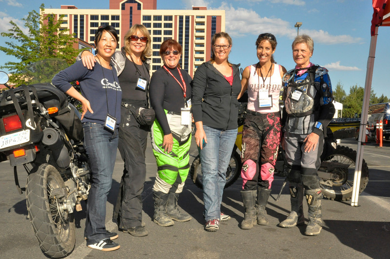 Prominent women in the motorcycle industry show their support at the Lake Tahoe Adventure Motorcycle Rendezvous.