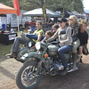 The annual Ural ladies ride brings smiles to the entire event.