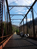 Old steel bridge crossing Elk River at Procious, WV