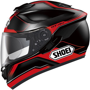 "Shoei GT-AIR Journey TC2 (fancied it in Black/Red but went for the White/Blue/Red....cooler (temperatures! lol;-) - great deal from:   http://www.justhelmets.co.uk  Contact Pete for a discount code for helmet purchases.....and of course there's ""Price Promise~ ;-)"