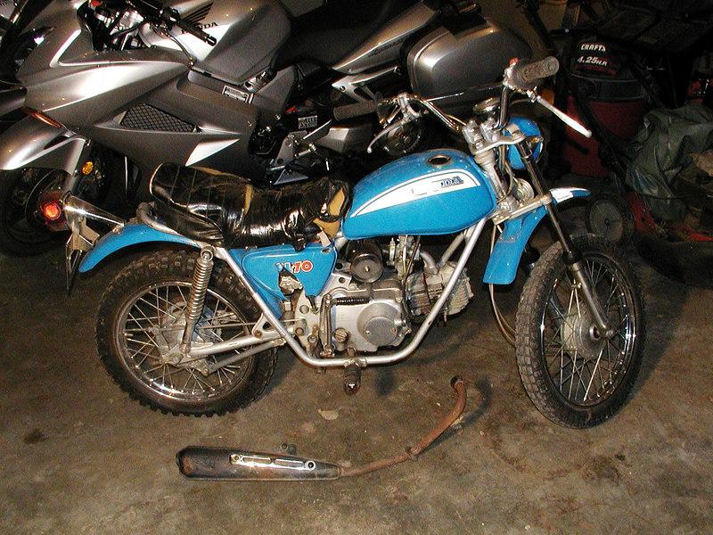 1971 Honda SL70 before its disassembly