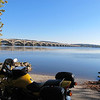 Veteran's Memorial Bridge (a/k/a Wrightsville Bridge) from west bank of the Susquehanna River.