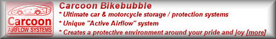 Carcoon Bikebubble the ultimate motorcycle storage / protection system   click to find out more