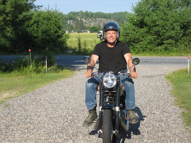 Nick Adams riding the Panther.