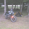 1000SP camping in Michigan. Euro biker ride to the Hessell Wooden boat show. 2007