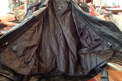 leather jacket large, zip out
