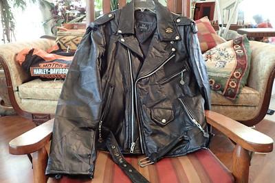 leather jacket large