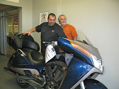 Roy (Sale Person) & Rex Next To My New Motorcycle.