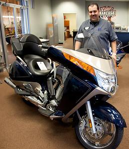 Team Mancuso Motor Sports Salesman Roy Zirpoli Next To My New Bike.