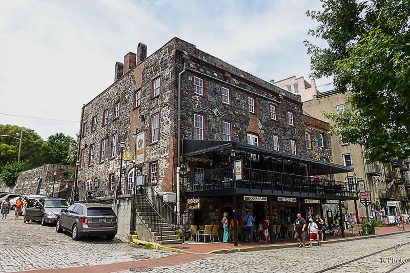 Along Savannah Georgia's historic Riverwalk.