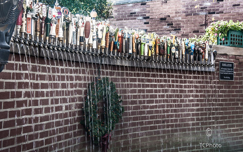 A unique fountain at the Bulldog Pub on Magazine St in New Orleans. All money placed in this fountain goes to local animal charities.