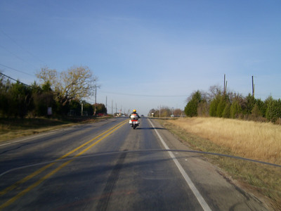 Heading out to McKinney to the starting point of the Toy Run.
