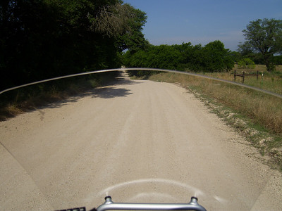 the unpaved county road...