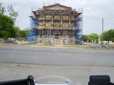 Goldthwaite - Mills County Courthouse.  A lot of the Texas courthouses are being refurbished this spring.