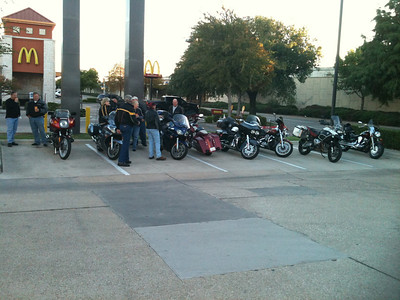 We had 11 bikes heading out from Richardson.
