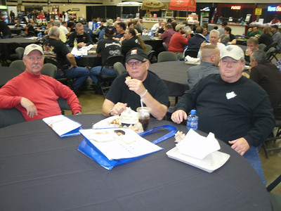 Rick, David, and Rex at the food court.